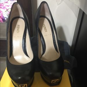 Fendi black pumps!